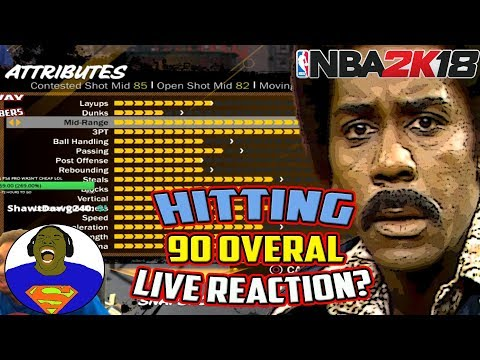 HITTING 90 OVERALL LIVE REACTION? - NBA 2K18 - BEST SMALL FORWARD BUILD - PLAYGROUND GAMEPLAY