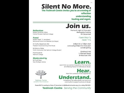 Silent No More - Yeshivah Centre Melbourne community event