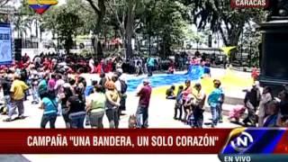 Construyen bandera de Venezuela de 1.200 metros: Segundo día de trabajo