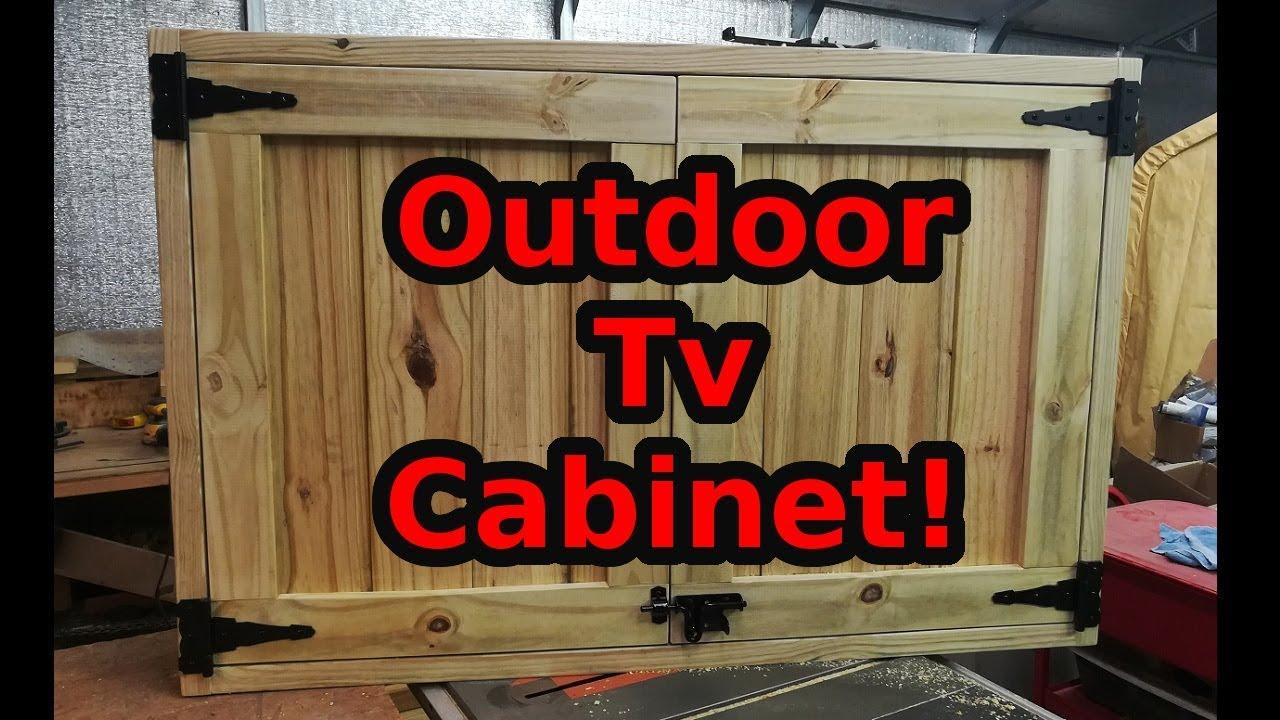 Custom Outdoor TV Cabinet! - YouTube