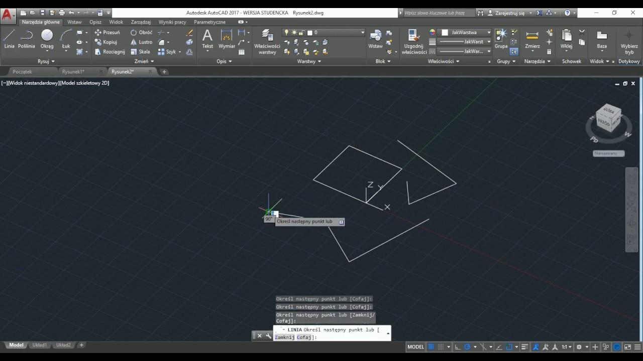 AutoCad 2017 - wprowadzenie do 3D