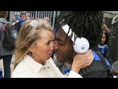 Hooker, DB and Becka - Florida's Coach KISSES every Player as they get off the bus...