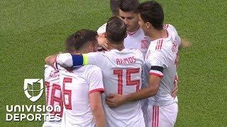 Golazo de Alcácer y España ya gana en Gales