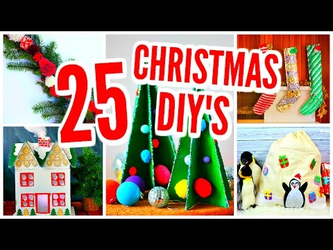 25 DIY Christmas Decorations! Room Decor Projects & Crafts