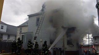 Paterson NJ Fire Department Working Fire 84 Dixon Ave Jan 23rd 2017