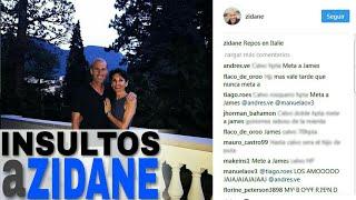 insultos a zidane en instagram tras el gol de james rodrguez