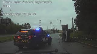 Police Pursuit ends in roll over accident
