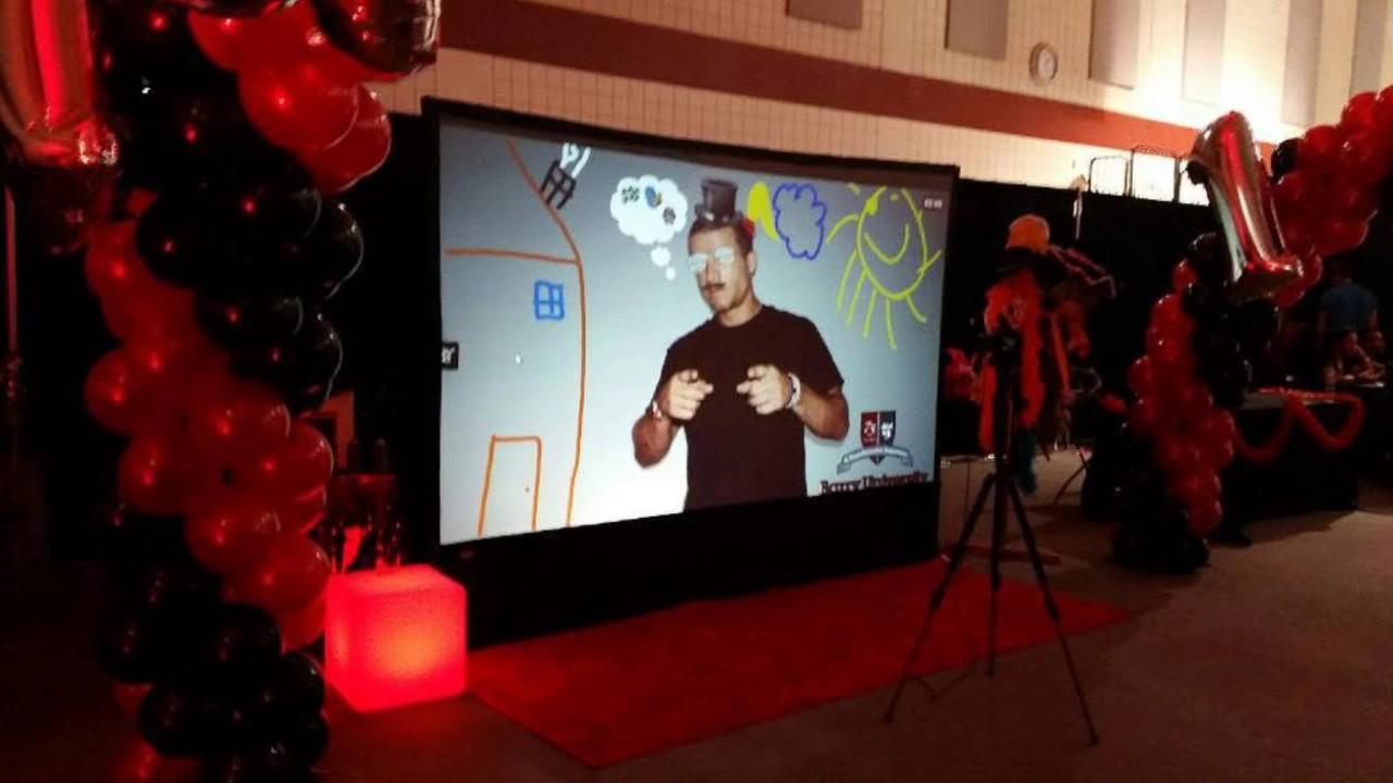 Interactive graffiti wall uk - Virtual Graffiti Wall Rental Boston Ovation Events