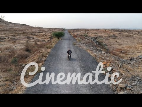 How to take Cinematic Footage on DJI Spark | Motorcycle Drone Tracking | DJI Drones India