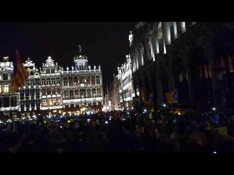 Grand Place Brussel·les - Els Segadors - Omplim Brussel·les - Road to Brussels