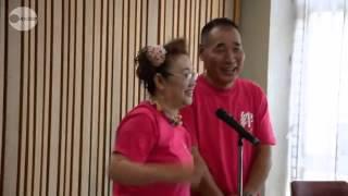 東日本大震災で被害を受けた岩手県大船渡市は10日、夫婦漫才で人気の ...