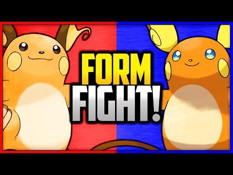 Raichu: Kanto vs Alola   Pokémon Form Fight