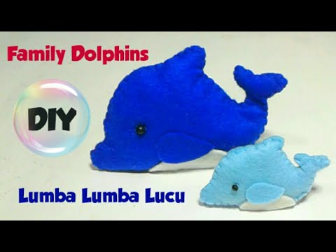 family---diy-how-to-make-dolphins-felt-|-cara-membuat-boneka-lumba-lumba-lucu-dari-kain-flanel