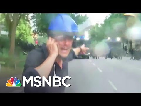 NBC's Kier Simmons Takes Police Water Cannon Fire at G-20 Protest | MSNBC