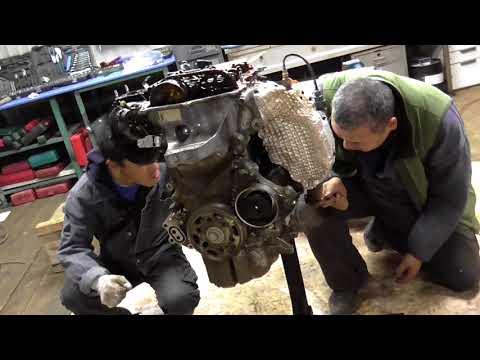 Фото к видео: Вскрытие и определение причин смерти двигателя 1KR-FE + обзорчик двигателя.
