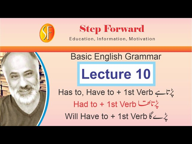 Basic English Grammar | Lecture 10 | Has to,Have to,Had to,Will Have to | Naeem Sulehri | Urdu|Hindi