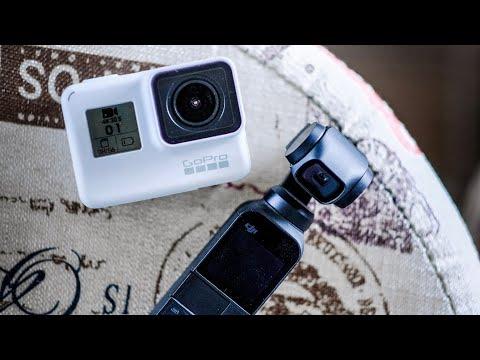 Сравнение камер GoPro 7 Black, DJI Osmo Pocket, IPhone Xs Max