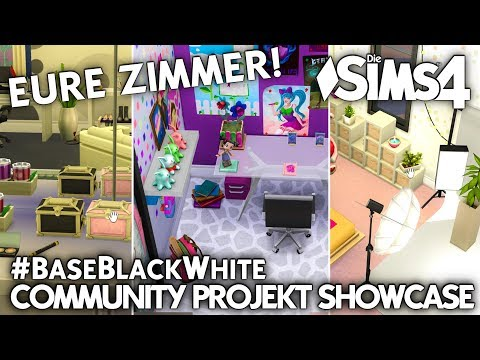 Eure Zimmer! | Base Black & White Community Projekt Die Sims 4 Galerie Showcase