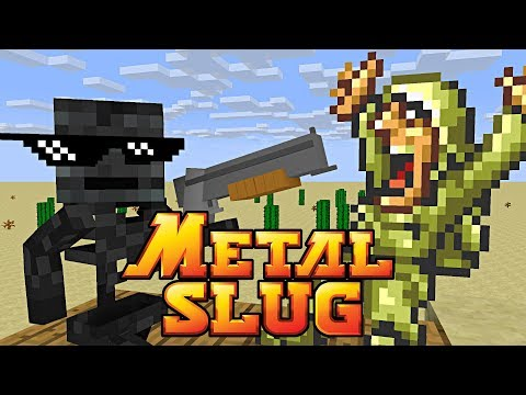 Monster School : METAL SLUG CHALLENGE - Minecraft Animation