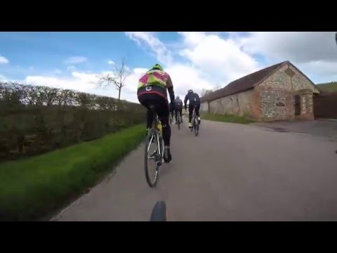 110 km loop - Chiltern Hills - Road Cycling - Princes Risborough april 2016