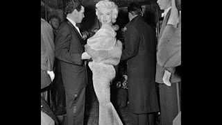 Footage of Marilyn Monroe arriving at the EAST OF EDEN world movie premiere 1955