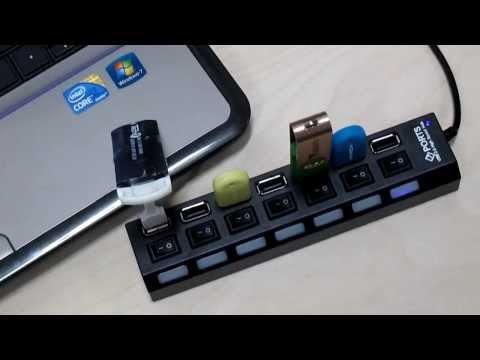 USB разклонител със 7 входа и индивидуални ключове CA63 10