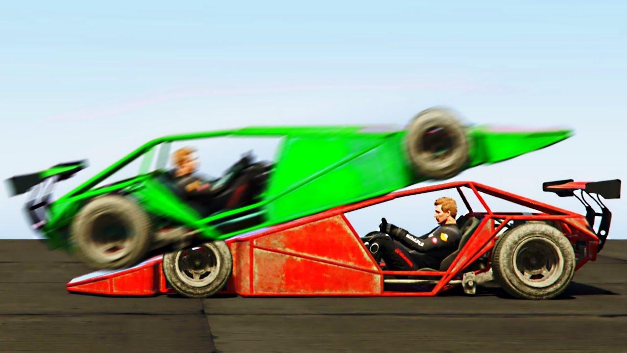 RAMP CAR vs RAMP CAR GTA 5 Funny Moments  YouTube
