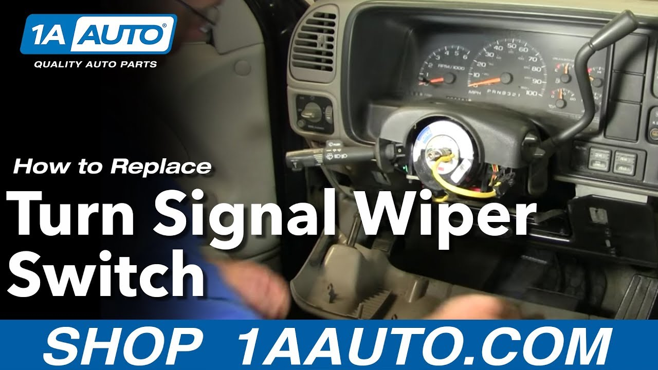 maxresdefault how to install replace part 1 turn signal wiper switch chevy gmc 2006 Chevy Silverado Wiring Diagram at gsmx.co