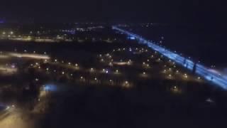 Ночное Запорожье с высоты птичьего полета(Пользователь MsPatrikV снял на квадрокоптере ночной город., 2017-01-28T10:24:06.000Z)
