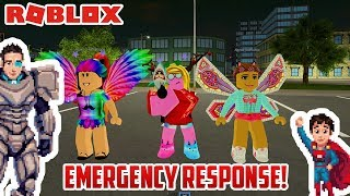 Cars for Kids! Roblox EMERGENCY RESPONSE with Fire Trucks and Police Cars!