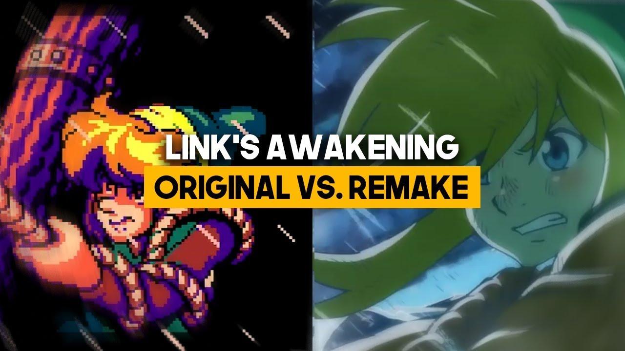 Zelda Link S Awakening Remake Vs Original Comparativa
