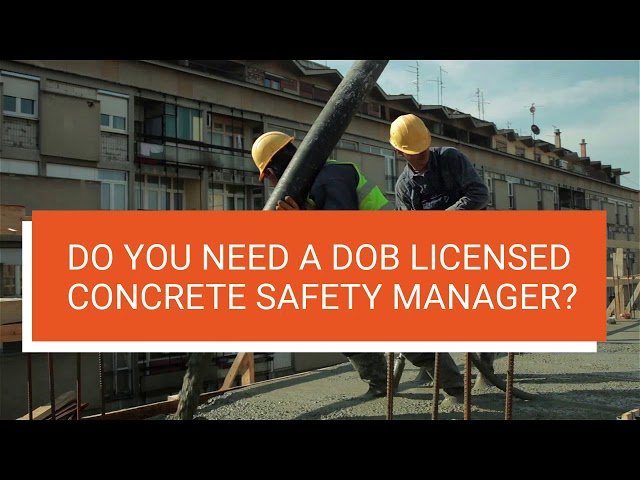 TSC HAS LICENSED CONCRETE SAFETY MANAGERS