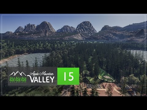 Cities Skylines Apple Mountain Valley - Part 15 - Country Club Golf Resort (Golf Course)
