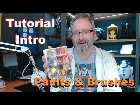 Painting 1/6 Figures & Statues - Tutorial Introduction - Paints and Brushes