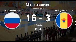 Обзор Футзал Групповой этап Россия Молдова 16_3