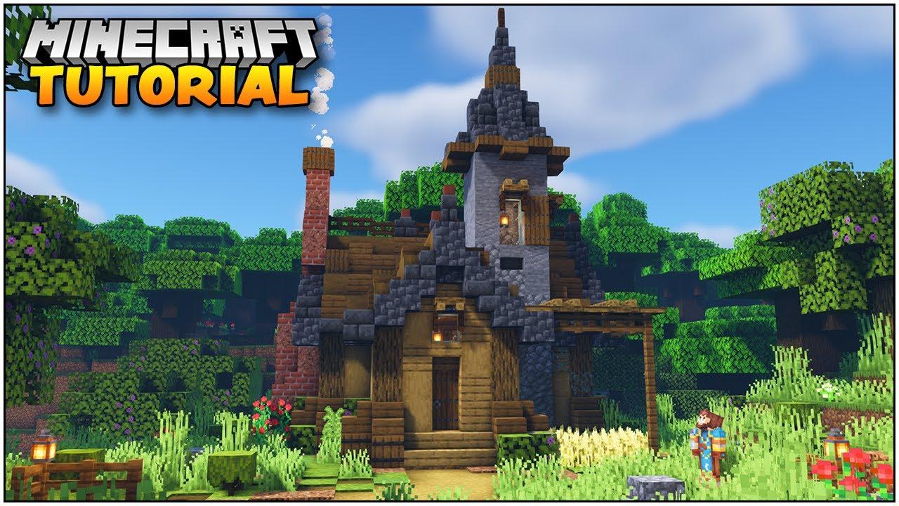 Minecraft 1.17 Tutorial: How to Make a Starter House in Minecraft!