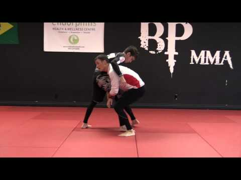 Chris Prickett Wrestling For MMA: Chest Pressure High Crotch Takedown