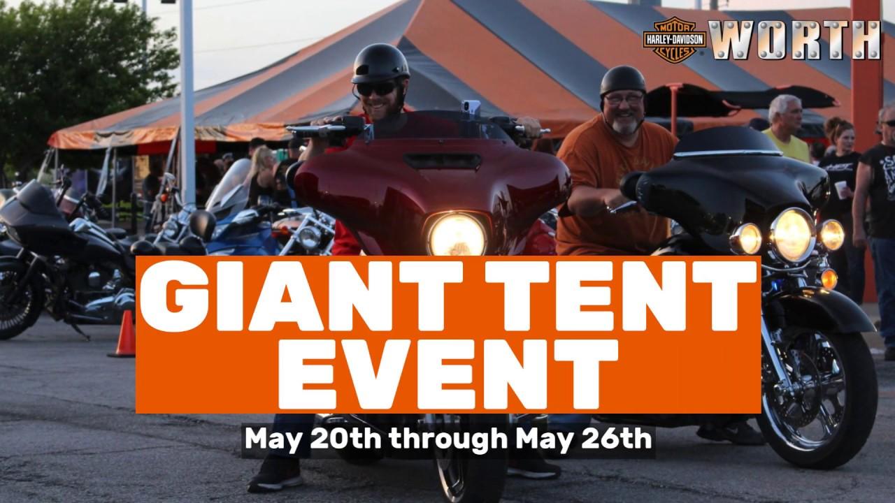 Worth Harley Davidson >> Giant Tent Event Worth Harley Davidson Youtube