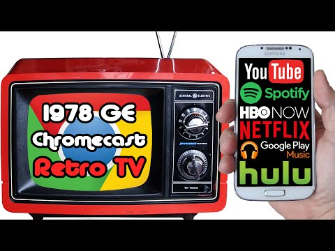 Quick demo version: 1978 portable television converted to internet music & video steaming smart TV!