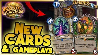 Hearthstone - NEW CARDS REVEAL WTF Moments - Kobolds and Catacombs Funny Rng Moments