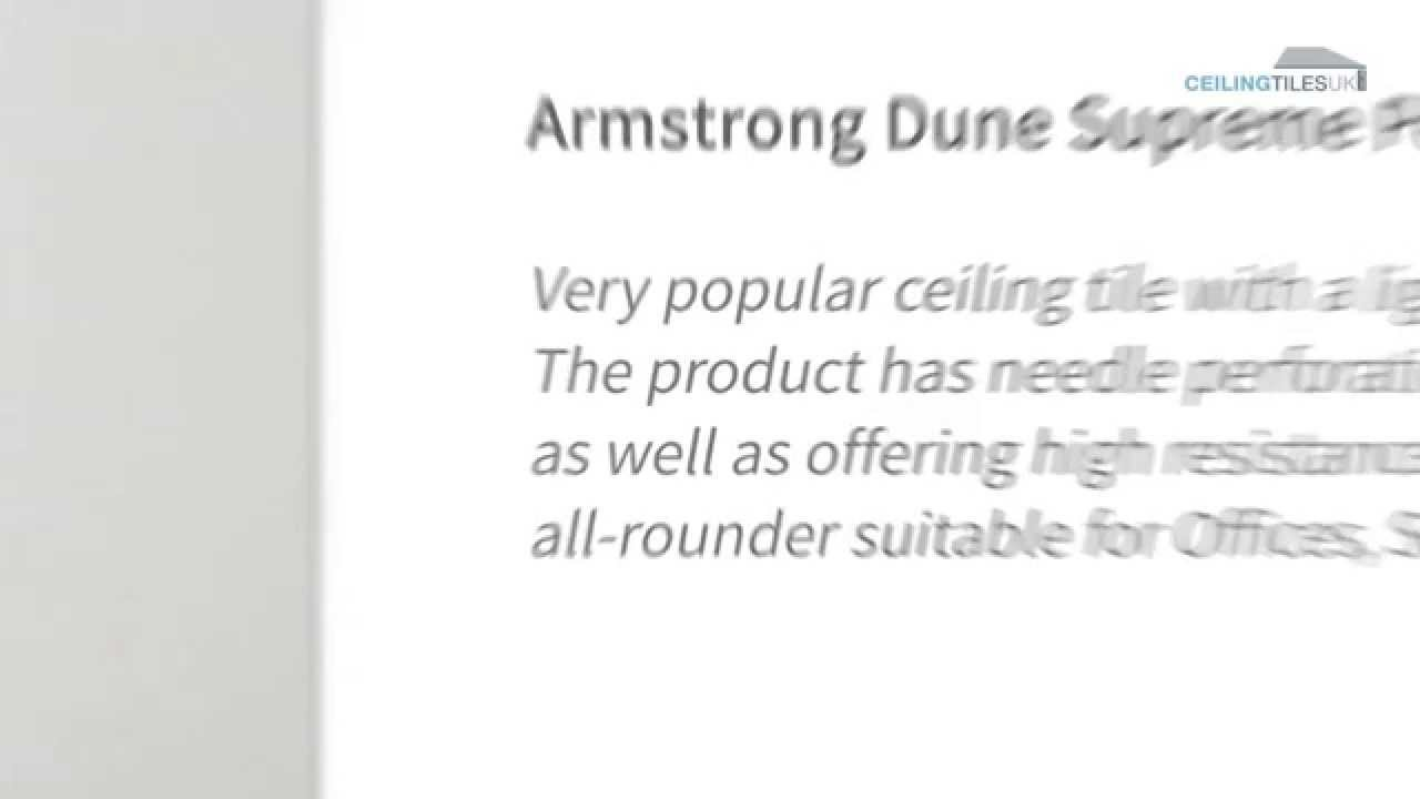 Armstrong dune supreme perforated suspended ceiling tiles armstrong dune supreme perforated suspended ceiling tiles ceiling tiles uk youtube dailygadgetfo Images