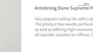 Armstrong Dune Supreme Perforated Suspended Ceiling Tiles - Ceiling Tiles UK