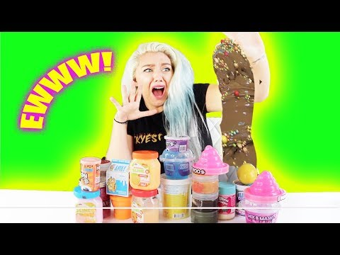 Finding A BOX OF YEAR OLD MOLDY Slime  + DISGUSTING SLIME SMOOTHIE!