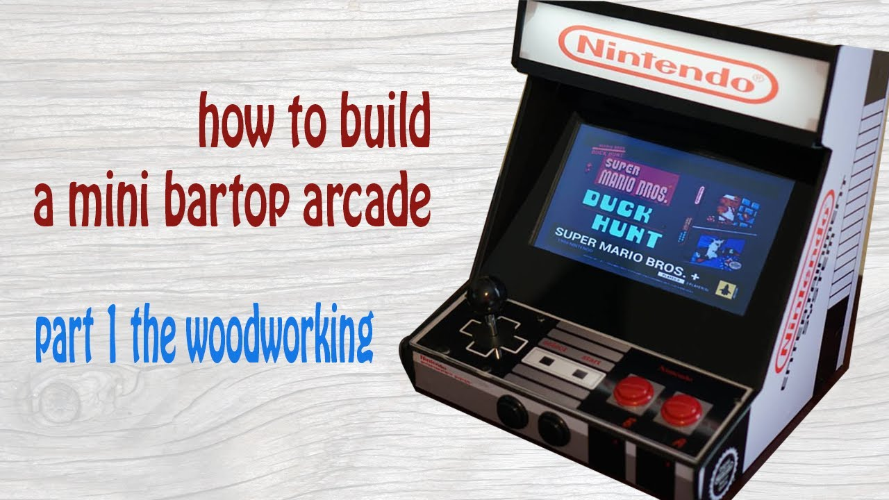 How to build a mini bartop arcade part 1: woodworking