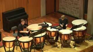 "Betz: Fanfare on ""Dies Irae"" for 9 timpani, 2 players (2015)"