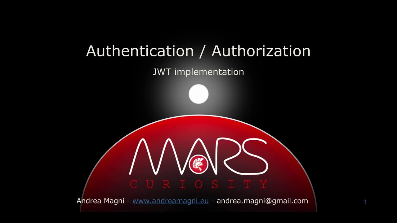 "MARS-Curiosity: ""Authentication and Authorization"" video"