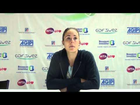 Alizé Cornet nous parle de son premier match contre Mathilde JOHANSSON