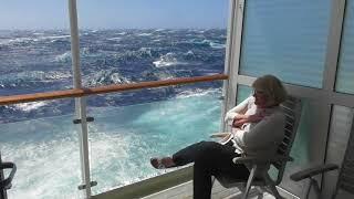 MS Europa bei Sturm in der Bass Strait Richtung Melbourne