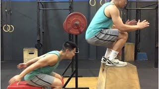 Jump Higher with PAUSE SQUATS + SEATED BOX JUMPS Complex