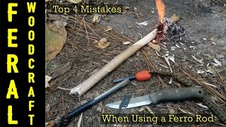 Top 4 Mistakes When Using a Ferro Rod